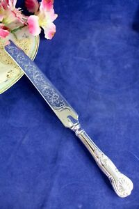 Sheffield Silver Co Kings Wedding Cake Knife 616 Silverplate Made In Italy