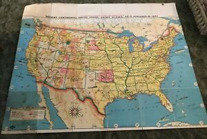 Tryon Illustrated American History Map 1893 By Weber Costello Co 39 1 4 X 48