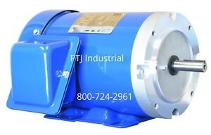 3 4 Hp Electric Motor 56c Frame 3600 Rpm 3 Phase Tefc Inverter Rated