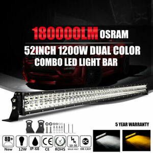 52inch 1200w Osram Led Light Bar Spot Flood Offroad 4x4wd Truck Atv Ute Pk 300w