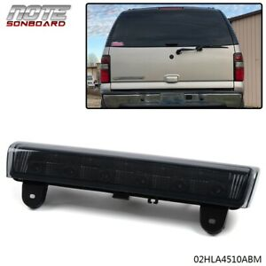 Led 3rd Third Brake Light For 2000 2006 Chevrolet Suburban Tahoe Gmc Yukon Black