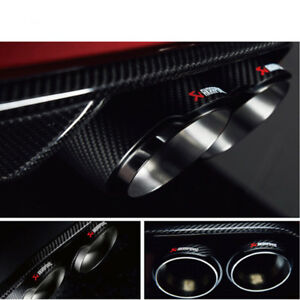 63mm Id 76mm Od Exhaust Tips Car Akrapovic Carbon Fiber Muffler Pipes 1pcs