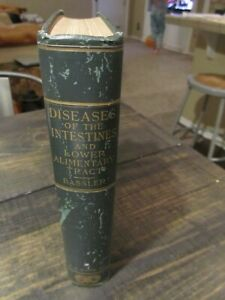 Diseases Intestines Book C1920 Bassler Anthony Rare 1st Edition Illustrated