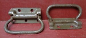2 Vintage Shabby Toolbox Drawer Door Drop Handles