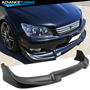 Fits 01 05 Lexus Is300 Pu Unpainted Black Front Bumper Lip Spoiler