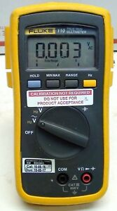 Fluke 110 True Rms Multimeter Voltmeter Tested