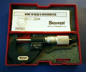 Starrett No 216 Digital Outside Micrometer Machinist 0 1 Case Wrench Paper