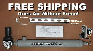 Refrigerated Air Dryer Free Drain For 15 Hp 2 stage Air Compressors To 80 Scfm
