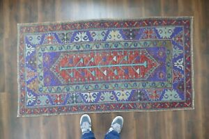 Vintage Turkish Oushak Runner Rug Handwoven Wool Antique Rug Runner 3 3x6 1