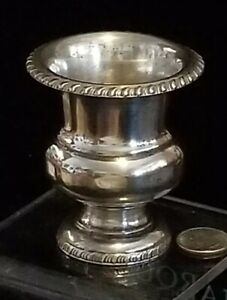 Antique Viners Of Sheffield Silverplated Urn Eggcup Cocktail Stick Hldr 3 25