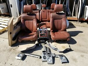 19c2719 14 Ford F150 King Ranch Complete Set Seats And Door Panels