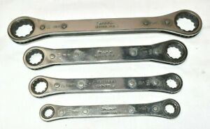 Snap On Tools Ratcheting Box End Wrench Set Of 4 1 2 To 15 16 Nice