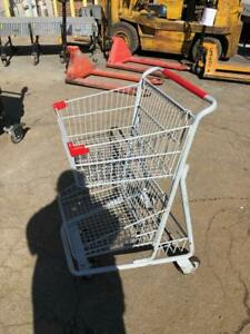 Shopping Carts Double Basket Metal Lot 20 Steel Buggy Small Used Store Fixtures