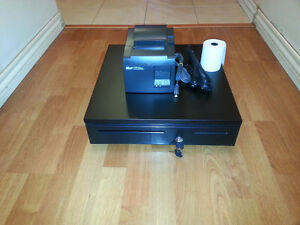 Square Stand Point Of Sale Star Tsp143u Usb Receipt Printer Cash Drawer Combo