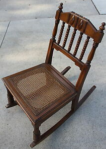 1920 S Petite Rocking Chair Cane Bottom Rocker Holland Furniture Local P U Only