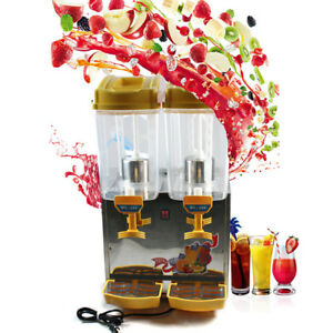 17l 2 Cold Refrigerated Drink Beverage Juice Dispenser Machine Commercial 110v