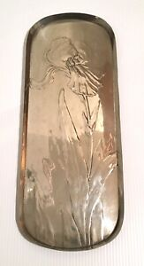 Jugendstil Art Nouveau Silberzinn Metal Tray Manner Of Wmf E Hueck 1900