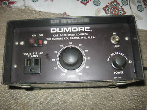 Dumore 2 100 Speed Control For Tool Post Grinder South Bend 9 Lathe Free Ship