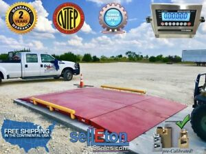 Op 934 10 X 10 Ntep Legal For Trade Axle Truck Cargo Scale With 60 000 Lbs Ca