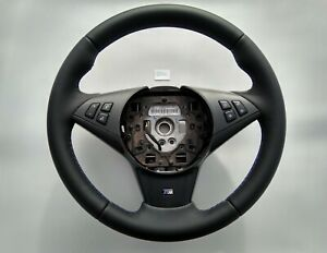 Bmw 5 6 E60 E61 E63 E64 M Sport Tech New Nappa Leather Steering Wheel Thick M