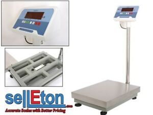 Undisclosed Bench Scales Industrial Shipping Removable Platter 300 Lbs X0 01 Lb