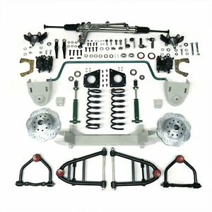 1955 1959 Chevy Truck Mustang Ii Ifs Front Suspension Power Rack 2 Drop Spindle