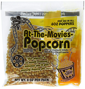 At the movies Popcorn Coconut Oil Portion Packs case Of 24 6oz Kettle