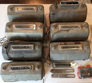 1955 1956 1957 1958 1959 Gmc Chevy Truck Radio Lot 11 Complete Rechrome Bezel