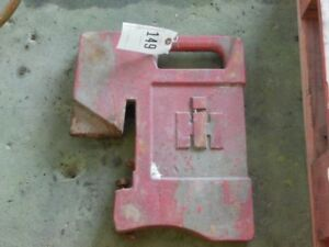 International Harvester Tractor 75 Lb Suitcase Weight Part 383392r1 Tag 149