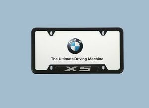 Bmw X5 Black Oem License Plate Frame