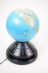 Motion Globes Lighted Moving World Time Daylight Globe 12 Replogle World