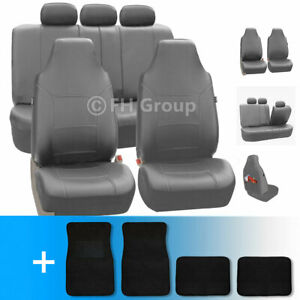 Premium Leatherette Car Seat Covers W Carpet Floor Mats