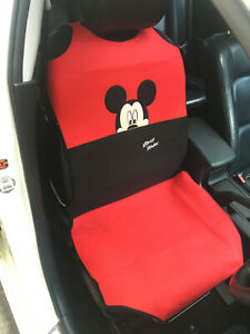 Mickey Mouse Car Truck Van Suv Accessory 1 Piece Car Seat Cover Red black 101