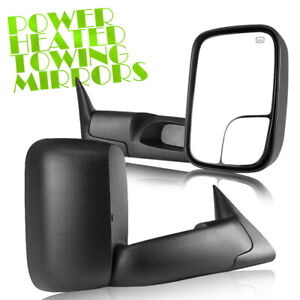 For 98 01 Dodge Ram 1500 2500 3500 Flip Up Power Heated Towing Mirrors Lh Rh