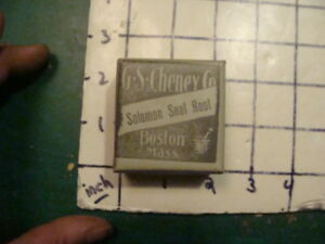 Unused Old Store Stock G S Cheney Co Boston Ma Solomon Seal Root