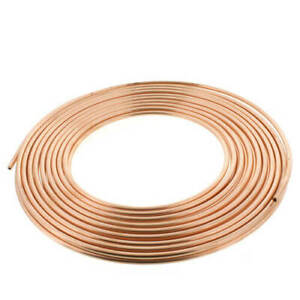 1 4 Od X 50 Copper Refrigeration Tubing Coil Diy Beer Wort Chiller Brewing