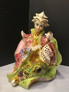 Porcelain Figurine Large Italian Majolica Excellent Condition 1 Of 2 Mid Cent