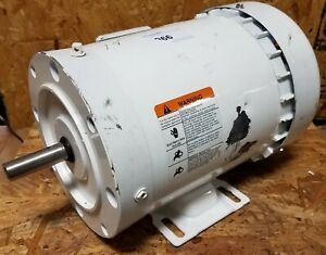 New Emerson 3 4 Hp 3 Phase Motor Lr2459 Wd34s2bc 5 8 Diameter Shaft