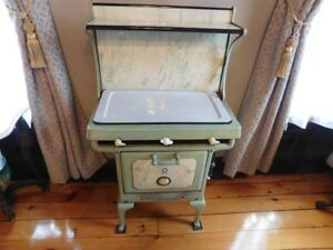 Antique Cameo Gas Apartment Size 3 Burner Stove 1920 S Extras