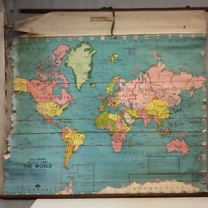 Map Of The World By Weber Costello Co 48 X44