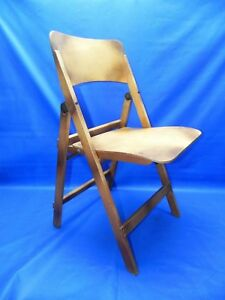 Rare Vintage Wood Folding Chair Rare Early 1900 S