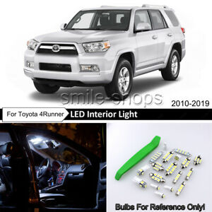 White Led Interior Exterior Lights Kit For 2010 2018 2019 Toyota 4runner tool