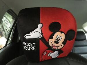 Mickey Mouse Disney Car Truck Van Suv 1 Piece Head Rest Head Seat Cover Red 171