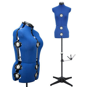 Gex Adjustable Dress Form Sewing Female Mannequin Torso Stand Small 13 dial