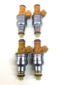 Set Of 4 Bosch 4 Hole Fuel Injectors Upgrade 19lb 2 5l Jeep Cherokee Wrangler