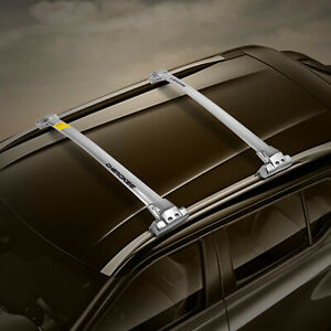 Roof Rack Rail Cross Bar For Jeep Grand Cherokee Roof Rails Smooth Silver Pair