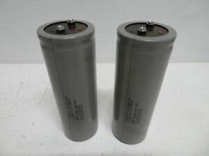 Lot Of 2 Cornell Dubilier 12 791985 00 Capacitor 12000 Uf 350 W Vdc 400 Vdc Gray