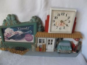 VINTAGE 1990 COCA-COLA CLOCK   MADE IN USA