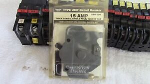 Federal Pacific Fpe Circuit Breakers Lot Of 16 Thin Thick Single Double