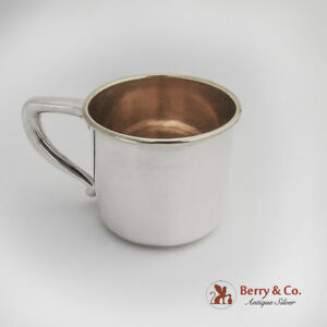 Gorham Baby Childs Cup Gilt Interior Sterling Silver 1950s